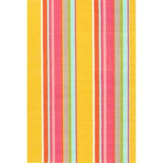 Test drive this rug in your space.Order a swatch by adding it to your cart.Were wagging with joy over this sunny striped number in washable polypropylene.