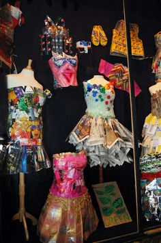 Paper dress collection
