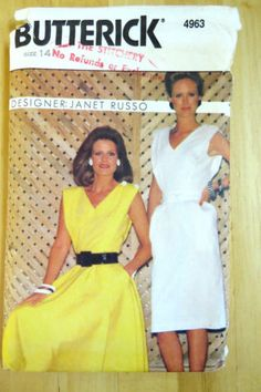 b45b96ab7f JANET-RUSSO-for-BUTTERICK-CLASSIC-DRESS-Sewing-Pattern-