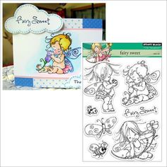 FAIRY SWEET Clear cling stamp set - PENNY BLACK Stamps 30-151 baby,fairies,words #PennyBlack #Imageswordsverses