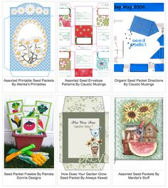 Tipnut.com has a great list of assorted FREE seed packets you can download and print. These are great for gifts for people who garden or cute party favors. The veggie ones by Pamela Donnis are especially cute! Click on the images below to visit these wonderful sites. [ad#Google Adsense] SHARE ON TwitterFacebookGoogle+StumbleUponYummlyPinterest