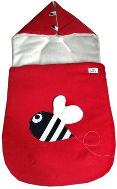 Saco capazo rojo con abeja entretiempo - Marketplace social de tiendas para niños de 0 a 14 años