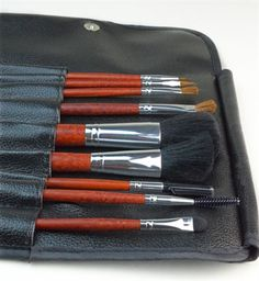 9 Piece Deluxe Makeup Brush Set With Leather Case - Save 69% - Just $15