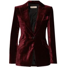 Emilio Pucci Velvet blazer ($2,665) ❤ liked on Polyvore featuring outerwear, jackets, blazers, blazer, coats, emilio pucci, velvet blazer, red blazer, red slim fit blazer and red jacket