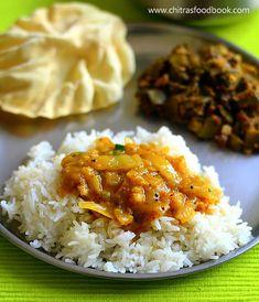 cabbage sambar for rice / muttaikose sambar - South Indian style !