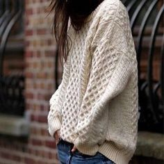 Oversized Fishermen's Sweater & Jeans | Street Style