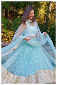 The Firoza Gypsy Sequin Lehenga Set – The Peach Project by Ayesha Indian Gowns Dresses, Indian Fashion Dresses, Indian Designer Outfits, Pakistani Dresses, Indian Outfits Modern, Bridal Dresses, Blue Lehenga, Indian Lehenga, Simple Lehenga Choli