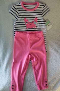 ad5730bcb Carter 039 s Baby Girl 2 Piece Set Size 18 Months Pink White Blue Cute New