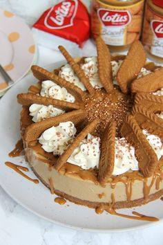 A delicious No-Bake Biscoff Cheesecake, with a Lotus Base, sprinkled with more biscuits and whipped cream and a Biscoff Drizzle. Okay so I am a...