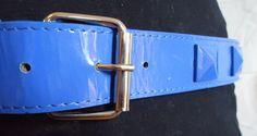 90's Vintage Revival Bright Blue Giant Pyramid Stud #Punk Belt  by POPWILDLIFE, $6.00