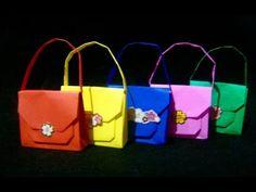 Origami Maniacs 202: Origami Handbag/ Carterita de Origami - YouTube