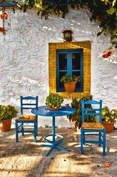 Greek Taverna Canvas print by Jim kernan Kos, Greece