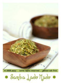 Sambal Lado Mudo / sambal hijau padang