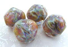 Lampwork Glass Beads Shifting Moon Nugget per bead UK by shineon2, £5.00