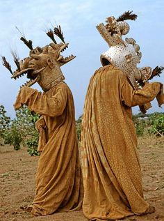 Senufo Wambele Funeral Masks. Ivory Coast. | ©Carol Beckwith & Angela…
