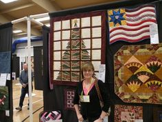 Quilt Show and my very own Christmas Windows quilt on display!