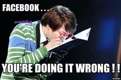 Haha, #Kyuhyun's version of Facebook.