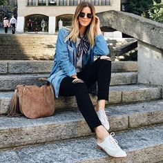 @michelletakeaim Enjoying a casual Saturday  #655madison #314beverlydrive #schutzshoes Style name: Dracena | Link in our profile to shop!