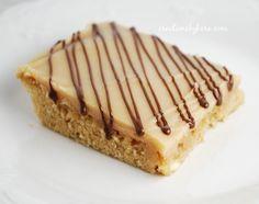 Peanut Butter Sheet Cake with Chocolate Drizzle on MyRecipeMagic.com #peanutbutter #cake #recipe