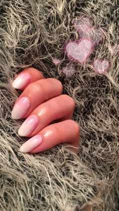 CND Shellac on natural nails. Studio White with Lecenté Pink Ombrè&White Ombrè Cnd Shellac, Natural Nails, Pink, Studio, Rose, Studios, Roses