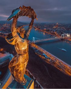 Statue of Liberty in Budapest, Hungary Wachau Valley, Europe Centrale, Capital Of Hungary, Cool Pictures, Beautiful Pictures, Hungary Travel, Belle Villa, Travel Abroad, Best Cities