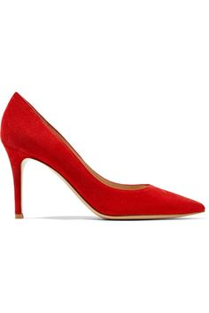 Gianvito Rossi - 85 Suede Pumps - Red - IT38.5