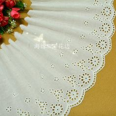High Quality 5 Yards 23CM Off White Free Shipping National Trend 100% Cotton Cloth Embroidery Lace Trim Lace Fabric -in Lace from Home & Garden on Aliexpress.com | Alibaba Group