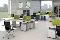 Office Workstations have evolved over time. From the tanker desks of yesteryear to the modular office furniture systems of today, the office furniture industry is constantly adapting to new demands in the modern workforce. Office Cubicle Design, Corporate Office Design, Office Interior Design, Office Interiors, Office Workstations, Office Cubicles, Office Desks, Office Chairs, Modular Office