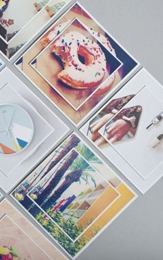 I thnink these are magnets, but this is a cool idea: print the same picture at different sizes and layer them.