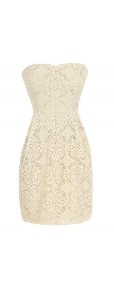 BB Dakota by Jack Azura Beige Lace Dress | Dress ideas, Casual ...