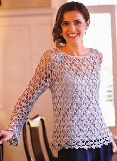 Ravelry: Sera Lace Top pattern by Doris Chan - would have to buy one of the books or magazine* [sport]