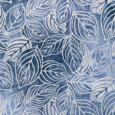 ~ Garden Round Leaf Batik Fabric