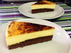 Pastel de Brownie y Crema Catalana | DULCES FRIVOLIDADES