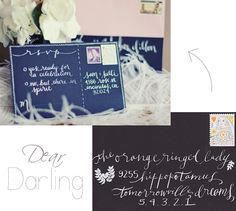 Love the RSVP wording. And the calligraphy. I wish I could calligraph (it's a word. Different Writing Styles, Our Wedding Day, Wedding Ideas, Rsvp Wording, Nice Handwriting, Happily Ever After, Sweet 16, Envy, Sisters