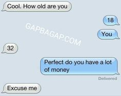 Funny Text About Young vs. Money