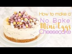 No Bake Mini Egg Cheesecake Recipe - Taming Twins - make this in a pie plate or glass pan to be scooped out rather than sliced!