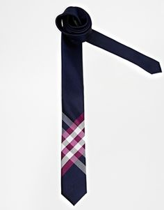 ASOS Tie With Placement Check