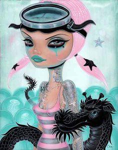 Juxtapoz Magazine - Caia Koopman's Pop Surreal Pin-Ups