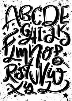 Graffiti Lettering Fonts, Doodle Lettering, Creative Lettering, Lettering Styles, Brush Lettering, Lettering Design, Typography Poster, Calligraphy Fonts Alphabet, Hand Lettering Alphabet