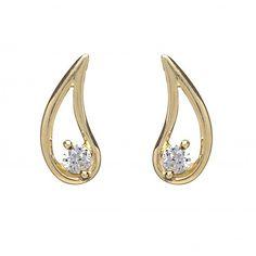 The Dazzle Stud Earrings  Price : $250 Only Style No                : E 8161 Metal Karat          :  10KT Diamond Weight :  0.14 CTS Diamond Type      : Round – Diamond Diamond Color     :  I-J Diamond Clarity   :  SI1 Diamond Pcs   :  2
