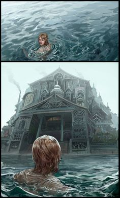 Water, castle.