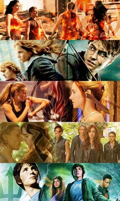 THE HUNGER GAMES, HARRY POTTER, DIVERGENT, The Mortal Instruments, AND PERCY JACKSON!!!!!!!!!!!
