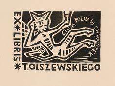 T. Olszewskiego bookplate (or ex libris), by W. Latach (1967).