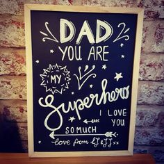 Personalised Father's Day Board • Swords and Snoodles  Father's Day Gift