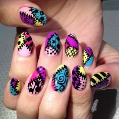 This stitched-together look. | 25 Times Nail Art Blew Your Mind In 2015