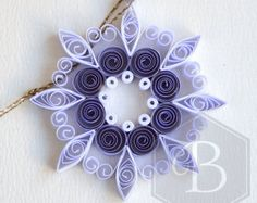White Paper Snowflake 7in Paper Quilled Snowflake by ElinaQuills
