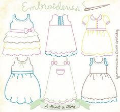 Little girls embroidery dresses