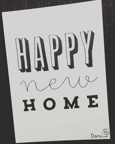 Happy new home. Een kaartje voor een vriendin die vandaag gaat verhuizen naar haar eerste eigen huisje. . . . . #doralijn #dutchlettering #letterart #lettering #modernlettering #handletteren #letters #handlettering #handlettered #handgeschreven #handdrawn #handwritten #creativelettering #creativewriting #creatief #typography #typografie #moderncalligraphy #handmadefont #handgemaakt #sketch #doodle #draw #tekening #illustrator #illustration #typespire #dailytype #quote #home