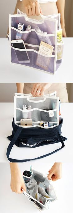 The Large Mesh Purse Organizer really changed the way I organize my items everyday! This mesh purse makes it easy to organize my items with many pockets, and I can easily slide it in or out of my purse to keep everything clean and tidy!