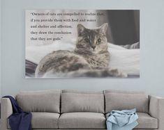 Cat quote print, cat wall art, cat art print, cat loss gifts , cat memorial, cat lover gift personalized, custom portrait pet cat lover gift